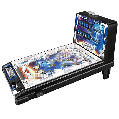 RPFF Mini Pinball Toys Electronic Pinball Games Space Super Pinball Games Parent-Child Puzzle Pinball Machine with Lights and Sounds Children's The Space Age Pinball Classic