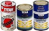 LOTE IMPRIMACION EPOXI TITAN YATE 750ML + DILUYENTE TITAN YATE 1L + ASPECTO CERAMICO BLANC...