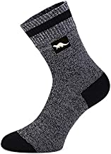 Waterproof breathable socks By OTTER for MEN and WOMEN outdoor activities golf running cycling hiking walking. With COOLMAX CORE(Medium Dark Grey)(6.5 - 9)