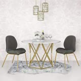 CosmoLiving by Cosmopolitan Elle Dining Table Faux Marble