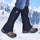 SHINYEVER Ghette da Escursionismo,Snowproof Scarponi da Neve Impermeabili Ghette Legging Gaiter Alta Protezione per Le Gambe per Escursioni, Escursioni, Arrampicata (Nero)