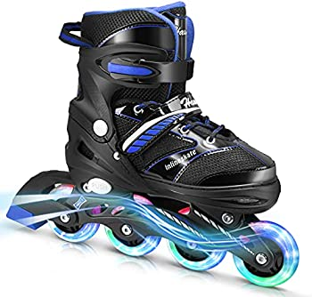Hawkeye Inline Skates for Kids and Adults with Light Up Wheels