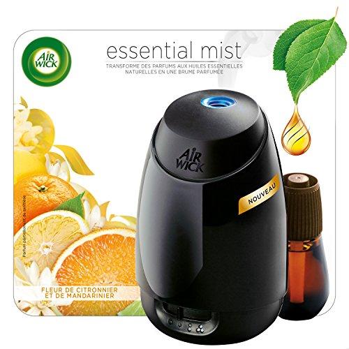 Air Wick Diffuseur d'Huiles Essentielles Essential Mist + 1 Recharge Fleur de Citronnier et de Mandarinier