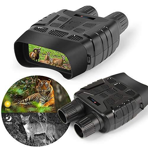 Nachtsichtfernglas, Digitale Infrarot-IR-Nachtsichtbrille für die Jagd mit 32-GB-Speicherkarte, 2,31-Zoll-TFT-LCD, 3-fache Lupe, Nachtsichtfernglas 1M HD-Foto aus Einer Entfernung von 300 m