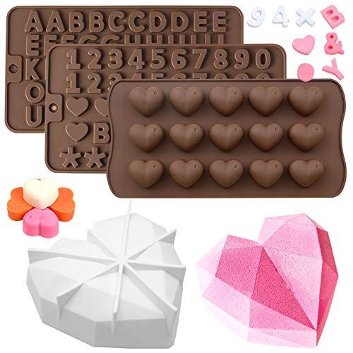 SENHAI 4 paquetes de moldes de silicona para pasteles, Molde