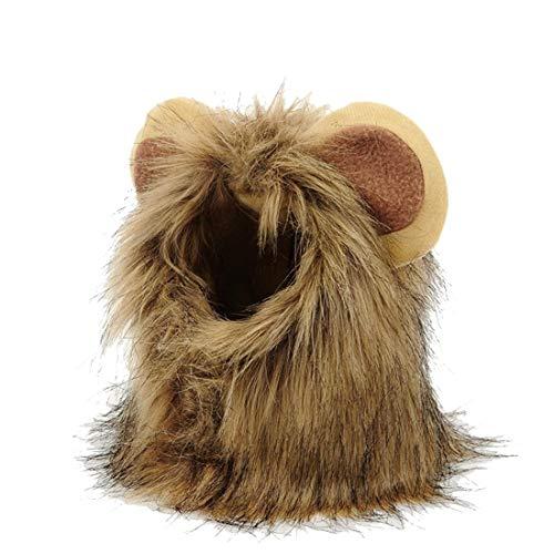 N / A Disfraces De Halloween del Perro, Mascota Accesorios Cosplay León Sombrero De Pelo De Perros y Gatos Pequeños Perros De Lujo Vestido De Ropa De Halloween