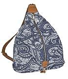 SIX - 1 unidad. Mochila azul de mujer, bolsa de mano bolsa de gimnasio con patrón de cachemira y forma de...