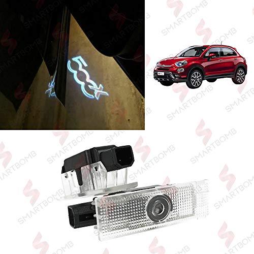 Proiettori LED logo Sottoporta plafoniere porta di benvenuto 500X 500L Punto EVO Bravo II Grande Punto Croma Tipo proiettore welcome ghost light projector CANBUS 7W specifico SMARTBOMB