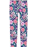 Osh Kosh Girls' Little Full Length Leggings, Blue Floral, 8