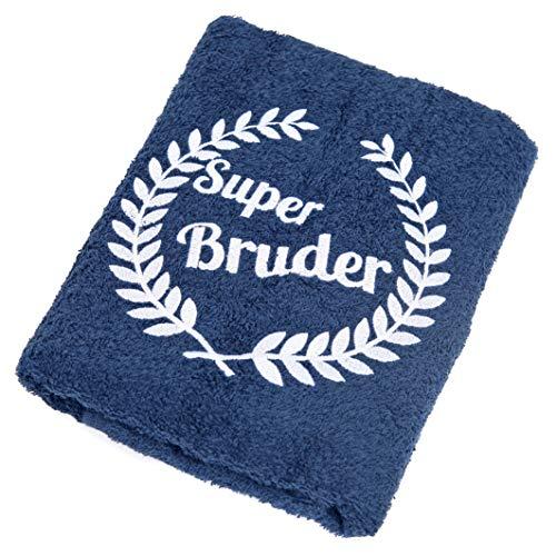 Abc Casa Super Bruder Handtuch zum Geburtstag, Namestag, Jahrestag, Valentinstag - dauerhaft nützliches Geburtstagsgeschenk für der Beste Bruder