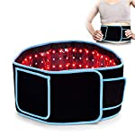 UNOISETION Red Light Therapy Waist Belt, 660nm LED Red Light and 850nm Near Infrared Light Therapy Pad Device, Home Use Wearable Deep Penetrating Wrap for Pain Relief, Muscle Relax