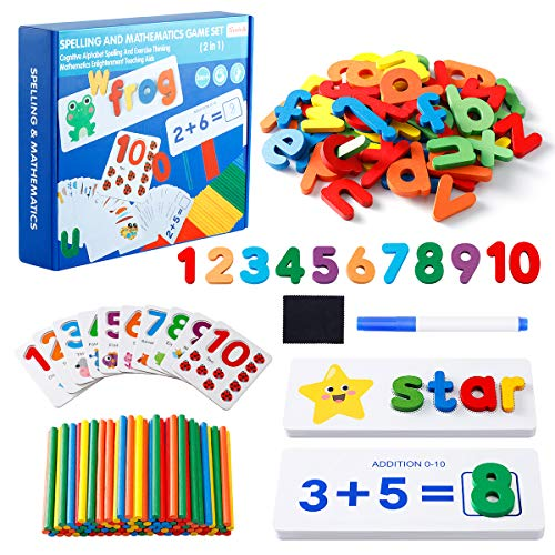 EXTSUD 233 Pcs Spelling Game Toys - Gift Toy for 3 4 5 6 7 8 Years Old Boys...