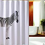 AI XIN SHOP Badezimmer- Zebra Verdickung Wasserdicht & Schimmel Umwelt Ges&heit Bad Duschvorhang mit Haken (größe : 1.8 * 2m(w*h))