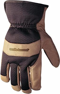 Wells Lamont Adult Grain Pigskin Leather Palm with 3D Back