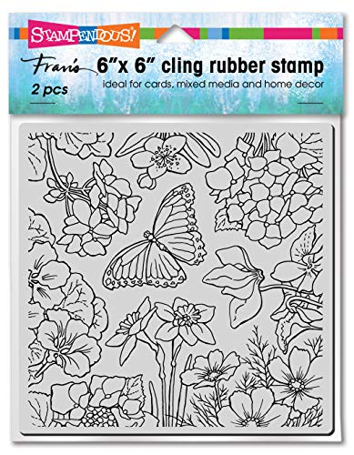 STAMPENDOUS CLING RUBBER STAMP SPRNG GRDN