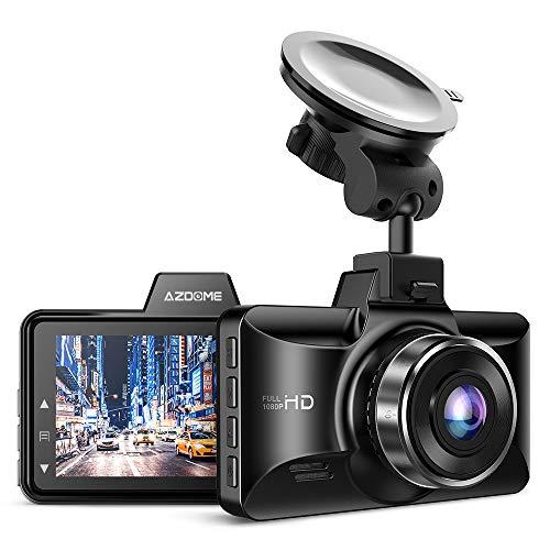 """AZDOME 1080P Caméra Embarquée Voiture avec 3"""" Ecran, 170°Grand Angle, Enregistrement en Boucle, G Capteur, Surveillance de Stationnement, Vision Nocturne Caméra Voiture Dashcam Conduite Enregistreur"""