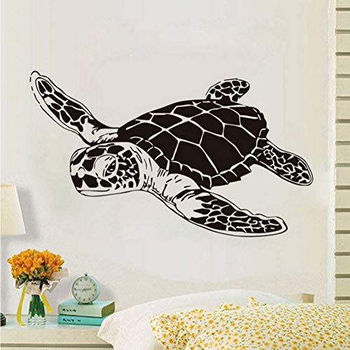 Vinyl Removable Wall Home Decor 3D Turtle Wall Sticker Marine Animal Removable Vinyl Wall Decal Creative Design Home Decoration Children's Room Waterproof Art Decal 73 * 43Cm