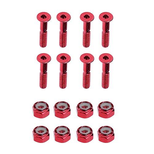 Homyl 8 tornillos de repuesto para componentes de zapatos de punta para monopatín Longboard – Rojo, 1 pulgada
