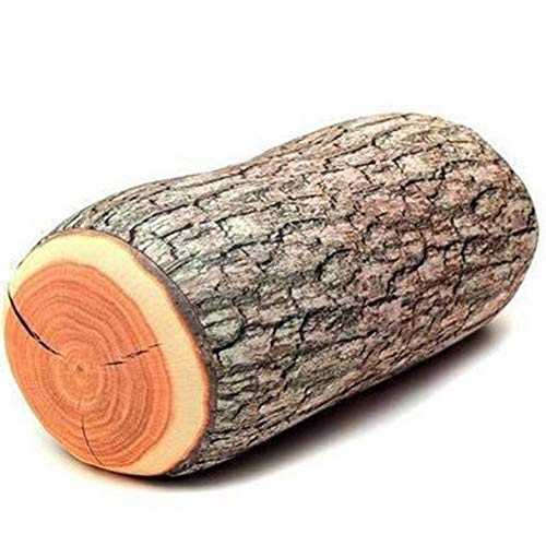 LANFIRE 3D Baum Holz Scheibe Memory Foam Weiche Wurfkissen Log Kissen Puppe Stuhl Sitzkissen für Home Office Gingko Baum Obst Kissen Sofa Schaum Kissen (Pillow 01)