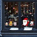 Pegatinas de vidrio de Navidad de dibujos animados para decoración de vidrio pegatinas de pared Pegatinas de decoración de Navidad de Reno de Santa designadas o enviadas al azar