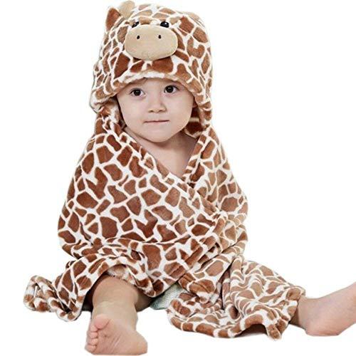 Hilmocho Manta De Bebé Con Capucha Toalla de Baño Infantil Swaddle Wrap Animal Dibujos Animados Albornoz Suave Caliente para Baño Ducha