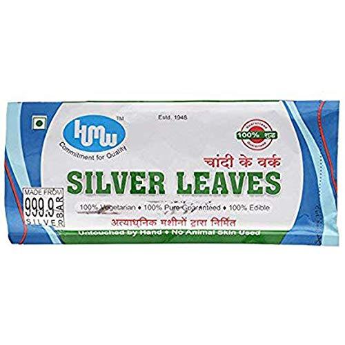 HMW Medium Silver Leaves - 15 Sheets