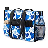 TOPDesign Utility Water Resistant Tote Bag with 13 Exterior & Interior...