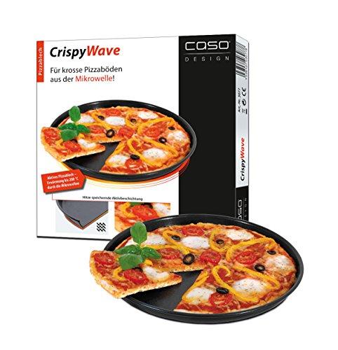 Caso 3077 Crispy Wave aktives Pizzablech für Mikrowellen und Heißluft Kombinations-Geräte, Durchmesser: 26 cm