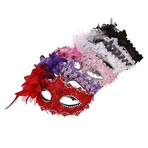 Abaodam 6 mascarillas venecianas de encaje para Halloween, mascaradas, fiestas de disfraces