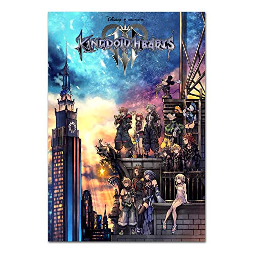Printing Pira Kingdom Hearts III Poster - PS4 Exclusive - Box Art (11x17)