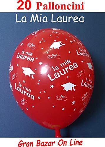 Gemar Palloncini LA MIA Laurea Rosso 20 Pz. Party Festa Decorazione Tocco
