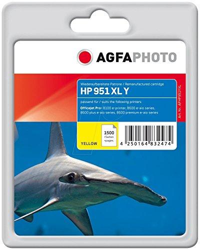 AgfaPhoto APHP951YXL Toner für HP OJPRO8100, 1500 Seiten, gelb