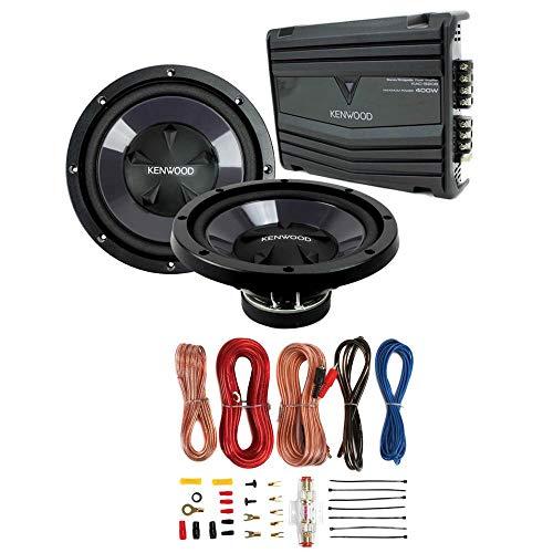 """Kenwood KFC-W110S 10"""" 1400W Car Subwoofers + KAC-5207 400W Amp + Amp Kit"""