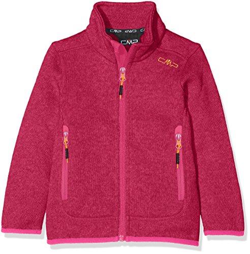 CMP Mädchen Strickfleece Jacke, Hot Pink-Bianco, 152