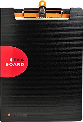 Exacompta 52134E - Exaboard Porte Bloc avec Rabat Exactive et porte stylo métal Polypropylène - Noir