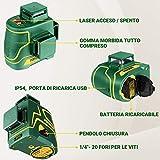 Immagine 1 popoman livella laser verde 3x360
