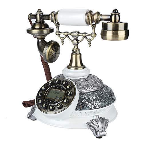FSK/DTMF Vintage Antikes Telefon, Wahlwiederholung Antike Festnetztelefone mit LCD Anzeige Klassische Festnetztelefon für Zuhause, Hotel und Büro. …
