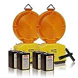 LED-MARTIN® 2er Sparset Warnleuchte - gelb -...