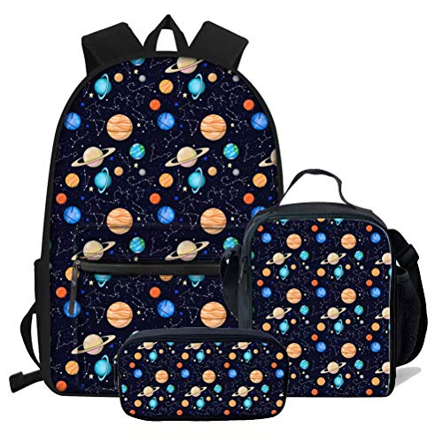 chaqlin Set of Planets with Faces On Stars Casual Daypack Travel Bag...