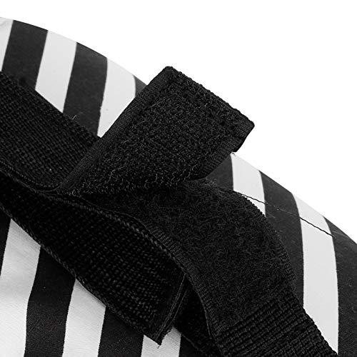 Bolsa organizadora ligera para cochecito de bebé, organizador de cochecito de bebé, soporte de taza de tela Oxford para guardar pañales, carteras, llaves, tazas de paja (tiras negras)