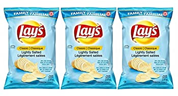 Lay s Wavy Lightly Salted Potato Chips 235g/8.3 oz 3-Pack {Imported from Canada}