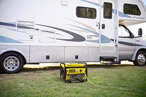 Champion Power Equipment 200915 New Model 1200-Watt Portable Generator, Black/Yellow