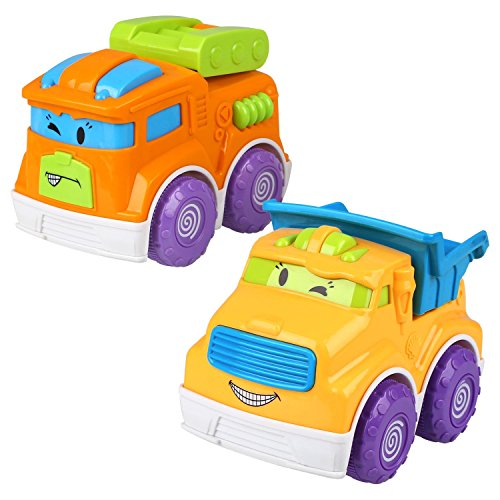 Peradix 2PCS Juguetes de Vehículos Divertidos Amarillo y Naranja