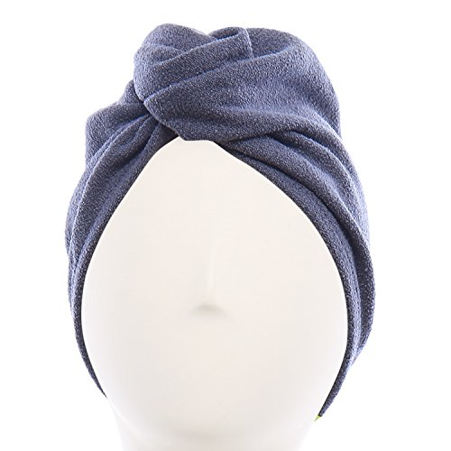 Aquis - Original Hair Turban, Perfect Hands-Free Microfiber Hair Drying, Dark Grey (10 x 26 Inches)