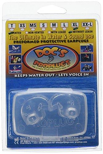Doc's Pro Ohrstöpsel, mit Öffnung zum Druckausgleich, GrößeXL, transparent