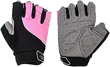 Weight Lifting Cycling Training Gloves - Elutong Workout Exercise Body-Building Cross-fit Anti-Slip Leather Palm Gloves for Pull-ups Dumbbell Spinning Climbing Bike Man & Women