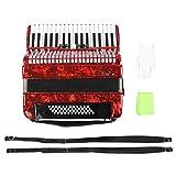 Pwshymi Acordeón de 34 Teclas cómodo y Sensible para acordeonistas para Principiantes