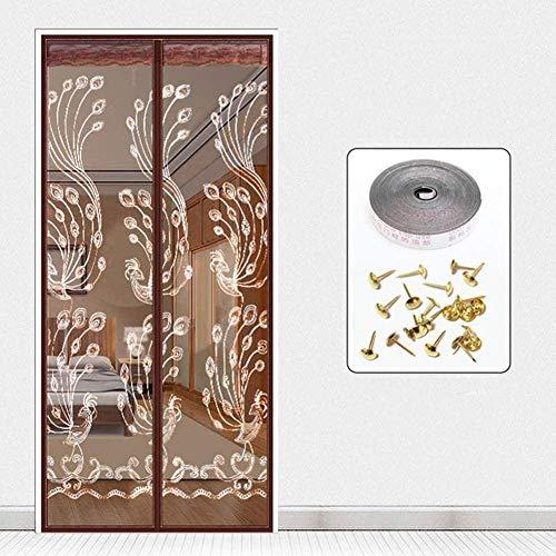 MU Mosquito Cortina 100X210Cm / 39X82Inches Gazebo de la Cortina para Puerta de Patio Sala /, Fácil de Instalar sin Necesidad de Taladrar,J