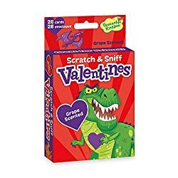 dinosaur Valentines scratch and sniff cards