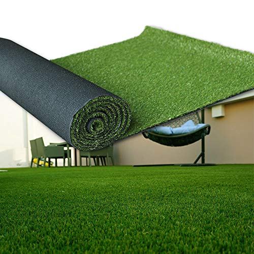 Artificial Grass 6' x 10' (60 Square Feet) Realistic Fake Grass Deluxe Turf Synthetic Turf Thick Lawn Pet Turf -Perfect for Indoor/Outdoor Landscape (20mm high Pile) Customized